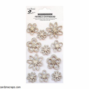 LittleBirdie Chipboard Flower Frenzy 11pc Little Birdie