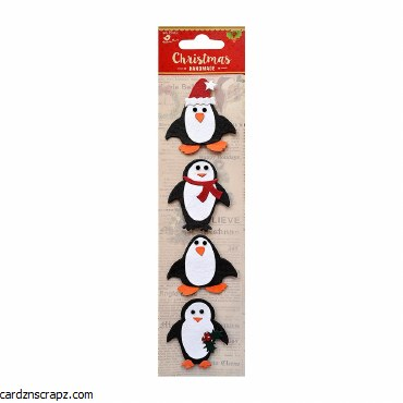LittleBirdie Christmas Penguin 4pc