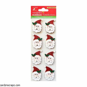 LittleBirdie Glitter 3D Santa 8pc