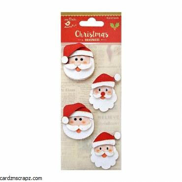LittleBirdie Glitter Santa 4Pc