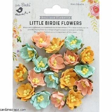 LittleBirdie Handmade Flower Butter Cup Pastel Palette 18Pc
