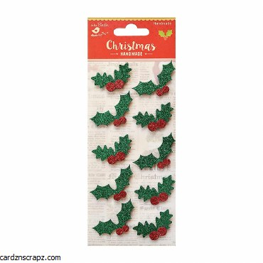 LittleBirdie Holly Berry Self Adhesive Sticker 10pc