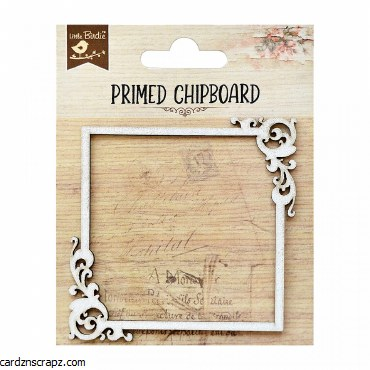 LittleBirdie Primed Chipboard Subtle & Chic Frame, 1pc
