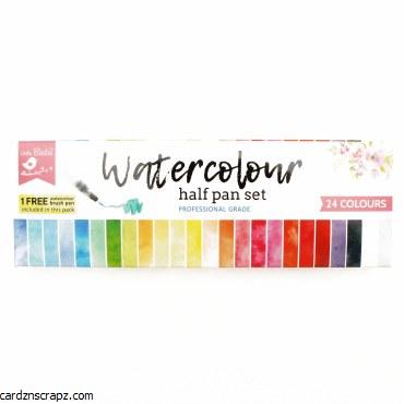 LittleBirdie Water Colour Half Pan Set 24 Colour Little Birdie