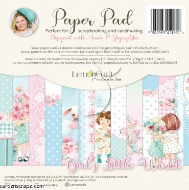 """Paper Pk 6x6"""" Lemoncraft Girl's Little World"""