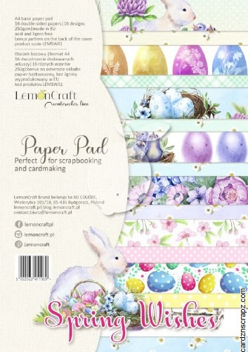 Paper Pk A4 Lemoncraft Spring Wishes