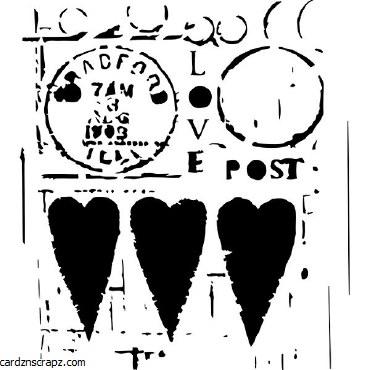 Mask CW 6x6 Love Post