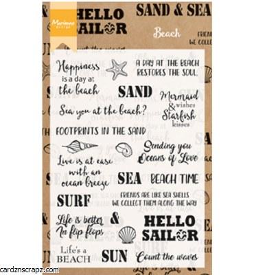 Clear Stamp Marianne Design Beach Sentiments