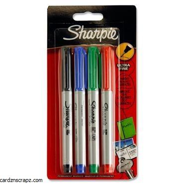 Sharpie Marker Fine Asst 4pk
