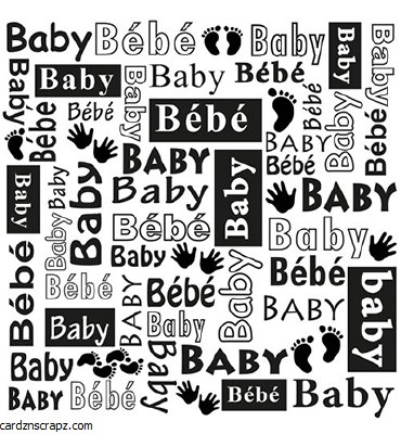 """Embossing Folder Nellie's Choice 6x6"""" Baby"""