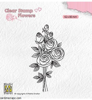 Clear Stamp Nellie's Choice Bouquet Roses 2