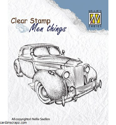Nellie's Choice Clear Stamps Men Things Oldtimer