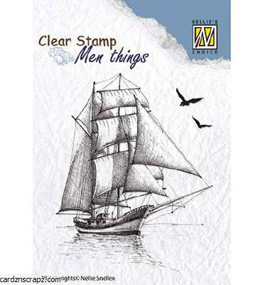 Clear Stamp Nellie's Choice Men Things Sailingboat 2
