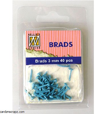 Nellie's Choice Floral Brads Baby Blue