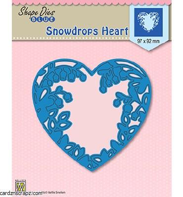 Nellie's Choice Snowdrops Heart