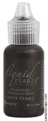 Ranger Liquid Pearls Glue 15ml Bottle Onyx Pearl