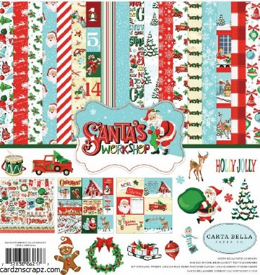 "Paper Pk 12x12"" Carta Bella Santa's Workshop"