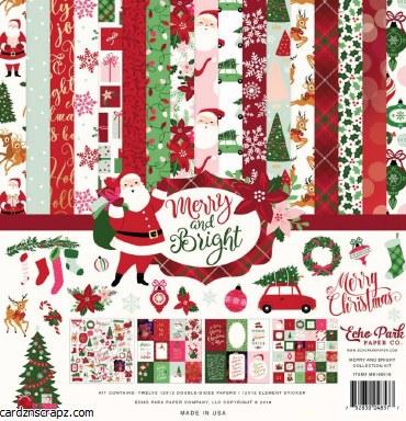 "Paper Pk 12x12"" Echo Park Merry Bright"