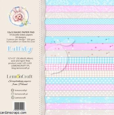 "Paper Pk 12x12"" LemonCraft Basics Lullaby"