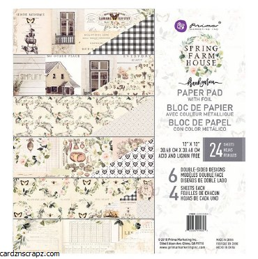Paper Pk 12x12 Prima Farmhouse