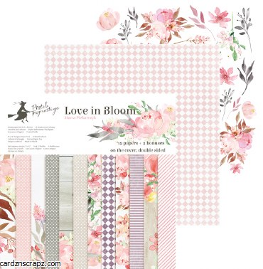 "Paper Pk 12x12"" Piatek Love Bloom"