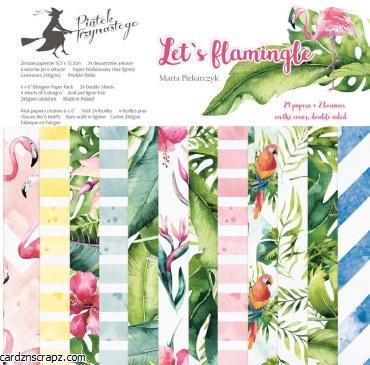 "Paper Pk 6x6"" Piatek Let's Flamingle"