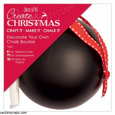 Decorate Your Own Chalk Bauble