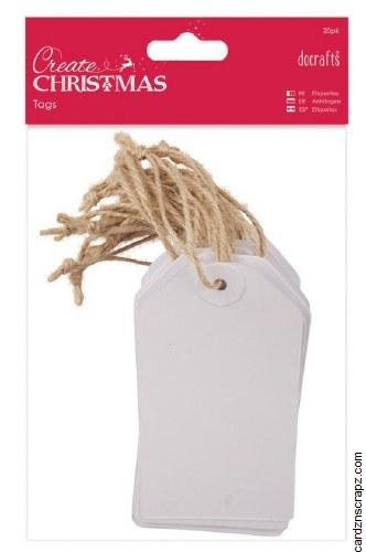 Tags DoCrafts (20pk) White