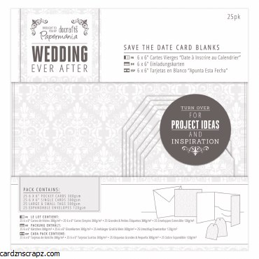 Papermania Save The Date Card Blanks (25p