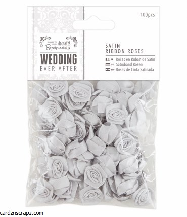 Papermania Satin Ribbon Roses (100pcs) We