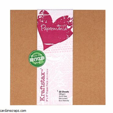 Card Pk 8x8 Kraftstax 20pk