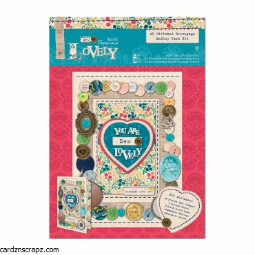 Papermania A5 Stitched Decoupage Medley Card Kit - Sew Lovely