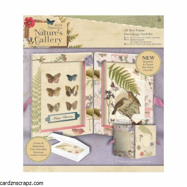 Papermania A5 Box Frame Decoupage Card Kit