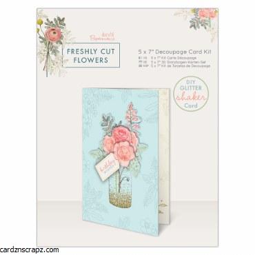"Decoupage Card Kit 5x7"" Freshly Cut Flowers"