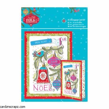 Papermania Decoupage Card Kit A5 Kit Noel