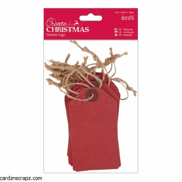 Tags DoCrafts (20pk) Red