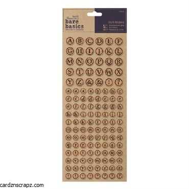 Papermania Cork Stickers (126pcs) Alphabet Circles
