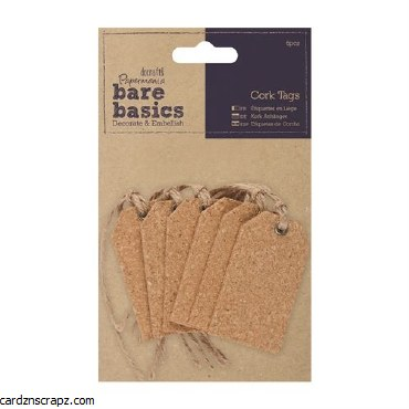 Papermania Cork Tags (6pcs) Gift Tags