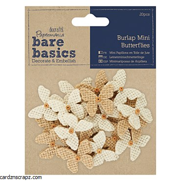Burlap Mini Butterflies (20pcs