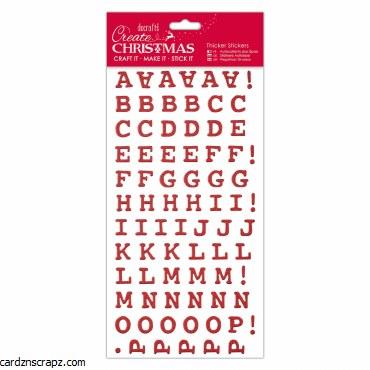 Alphabet Thicker Stickers DoCrafts Red