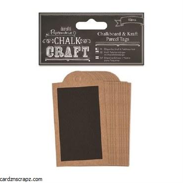 Papermania Chalkboard & Kraft Parcel Tags (10pcs)