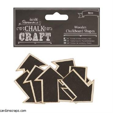 Papermania Wooden Chalkboard Shapes (8pcs) Arrows