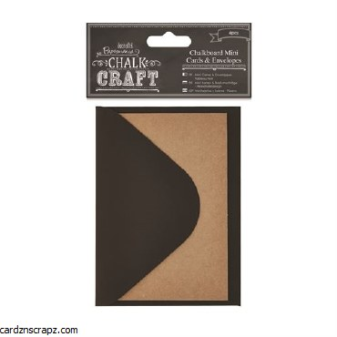 Papermania Chalkboard Mini Cards & Envelopes (6pcs)