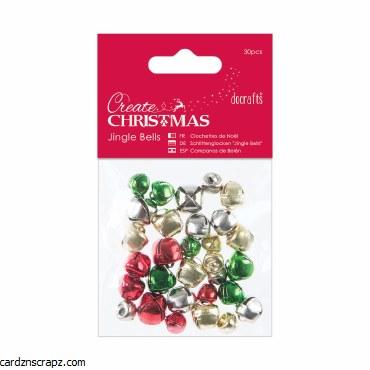 Jingle Bells DoCrafts (30pcs) Mixed Colours & Sizes