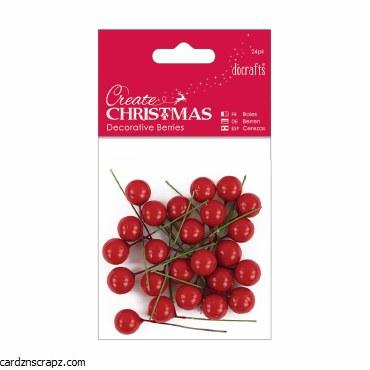 Decorative Berries (24pk) Red