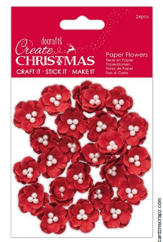 Paper Flowers Pearl Blosson 24pk
