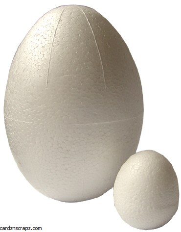 Polystyrene Egg 120x85mm Solid
