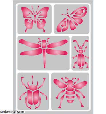 Stencil A5 Pronty Insects