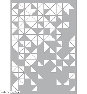 Stencil A4 Pronty Triangles