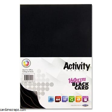 A4 Black Card 40 Pack